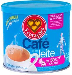 Café Com Leite Sem Açúcar 3Coracoes 265g