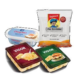 Tapioca de Cream Cheese aerado, Emmental e Gruyère