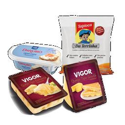 Tapioca de Cream Cheese aerado, Emmental e Gouda