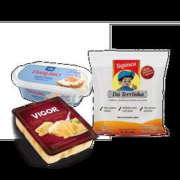 Tapioca de Cream Cheese aerado e Emmental