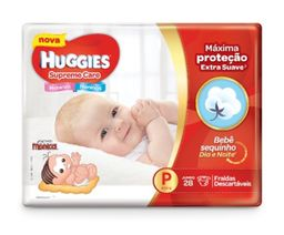 Huggies Fralda Descartável Supreme Care Tamanho P