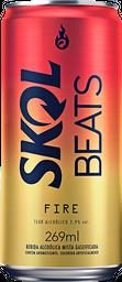 Cerveja Skol Beats Fire Lt 269Ml