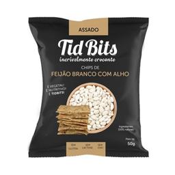 Snack Feijão Branco Com Alho Torrado Tidbits 50g