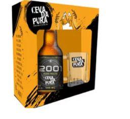 Kit Cerveja Pilsen 2001 E Caneca Cevada Pura Un