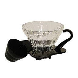 Cj Para Cafe Vidro Hario Vdd002B Preto 700Ml