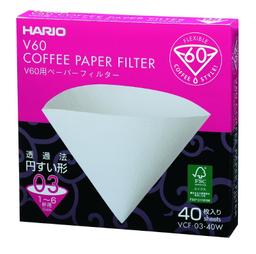 Filtro Cafe Hario V60 03 Branco 40Un