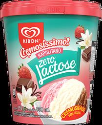 Sorvete Zero Lactose Napolitano Kibon 800ml