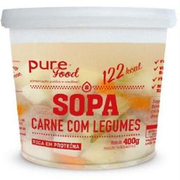 Sopa Carne Com Legumes Purefood 400g