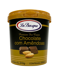 Sorvete Chocolate Com Amêndoas La Basque 500ml