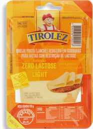 Queijo Prato Light Ft Zero Lactose Tirolez 150g G