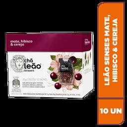 Chá Leão Senses Mate, Hibisco E Cereja - 10 Sachês