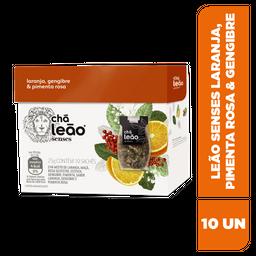 Chá Leão Senses Laranja, Pimenta Rosa E Gengibre - 10 Sachês