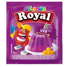 Gelatina Uva Royal 25g