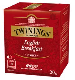 Chá Twinings English Breakfast Preto 20g 10Un
