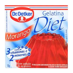 Gelatina Diet Morango Oetker 12G