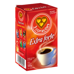 Café Extra Forte Vacuo 3 Coracoes 500g