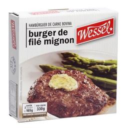 Hambúrguer  Bov Filé Mignon Wessel Com 2 330g