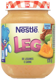 Papinha Infantil Carne Com Mac & Legumes Nestle 170g