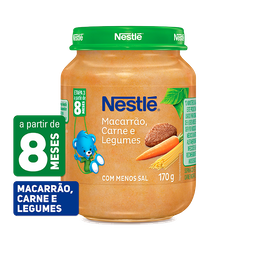 Papinha NESTLÉ macarrão carne e legumes 170g