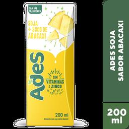 Bebida A Base De Soja Abacaxi Ades 200ml