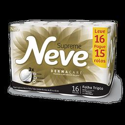 Papel Higiênico NEVE Supreme Leve 16 Pague 15 - 16 Rolos