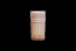 Palito De Dente Bambu Sidchen Pote Com 200 Unidades