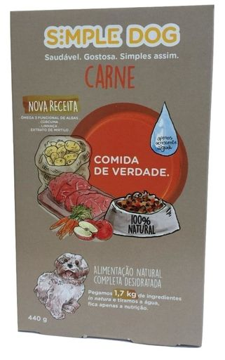 Alimento Natural P/ Cao Carne Simple Dog 440G