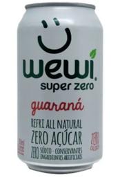 Refrigerante Natural Zero Guarana Lata Wewi 350Ml