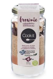 Brownie 100% Cacau Cookit 220G