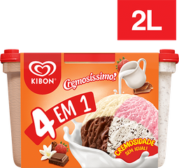 Sorvete 4Em1 Kibon 2L