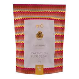 Pipó Pipoca Gourmet de Caramelo Com Flor de Sal Sachê