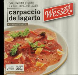 Carpaccio de Largato Wessel Bovina sem Osso Congelada 200g