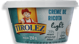 Creme Tirolez de Ricota Light 250 g