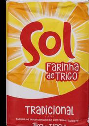 Farinha de Trigo Tradicional SOL Pacote 1kg