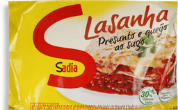 Lasanha Sadia Presunto e Queijo 600 g