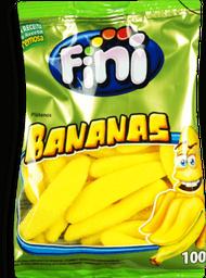 Bala de Gelatina Fini Bananas 100g