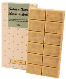 Tablete Cookies N'Cream Recheado com Creme de Avelã