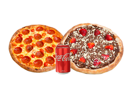 Combo Petit: Pizza Broto e Pizza mais Refrigerante - 350ml