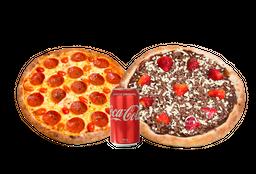 Combo Petit: Pizza Broto + Pizza Doce + Refrigerante 350ml