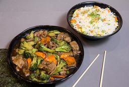 Carne com brócolis (500g)