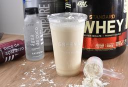 Monte seu shake de proteína