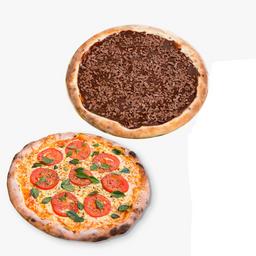 Combo Pizza Grande 2 Sabores mais Broto Doce