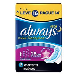 Absorvente Always Prot Tot Not L16P14 M Seca