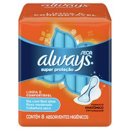 Absorvente Always C/8 Sup Prot C/Abas Seca