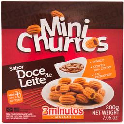 Mini Churros Rech 3 Mineral Congelado 200G Doce De Leite