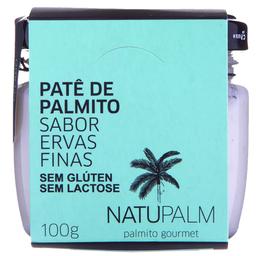 Patê De Palmito Natupalm 100G Ervas Finas