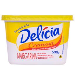Margarina Delicia Cremoso500G S/Sal