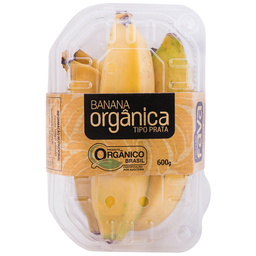 Banana Prata Organica 600G