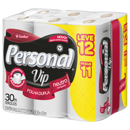 Kiss Papel Higienico Personal Folha Dupla Vip Leve 12 Pague 11