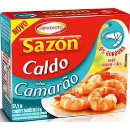 Caldo de Camarão Sazon 37,5g com 5 Sachês